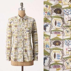 Anthro   Odille Tarpan Farm County Fair Shirt